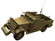 3d Rendering of a M3 Scout Car Royalty Free Stock Photography