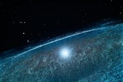 3d rendering, the magnificent spiral nebula. The universe background. Computer digital background galaxy space blue abstract color sky fantasy black colorful stock image