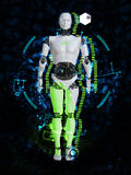 3D rendering of male robot technology concept. Royalty Free Stock Photo