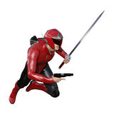 3D Rendering Male Superhero on White Royalty Free Stock Images