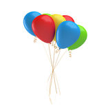 3d rendering of many colorful balloons tied together with a string. Gifts and greetings. Stock Images