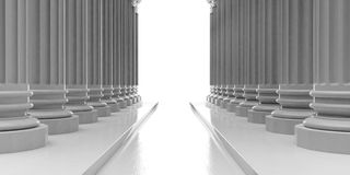 3d rendering marble pillars with steps Stock Images