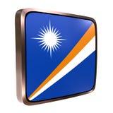 Marshall Islands flag icon Royalty Free Stock Photos
