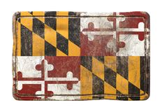 Old Maryland State flag Stock Photos