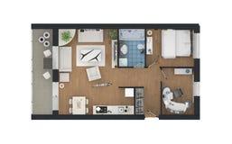 3d rendering meblujący domowy mieszkanie ilustracja wektor