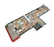 3d rendering meblujący domowy mieszkanie Zdjęcia Stock