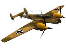 3d Rendering of a Messerschmidt Bf 110. Light bomber Stock Photography