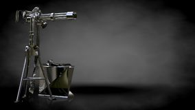 3d rendering of a metalic reflective shoot gun on a dark backgro. Und Stock Images