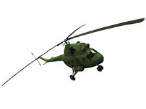 3d Rendering of a MI-2 Helicopter Stock Images