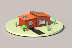 3d rendering, mini house royalty free illustration