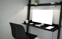 Shelve desktop minimal setup Stock Images