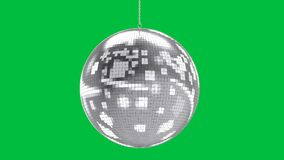 Mirror ball on green screen