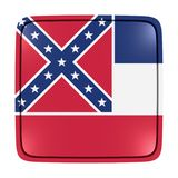 Mississippi flag icon. 3d rendering of a Mississippi State flag icon. Isolated on white background Stock Photo
