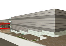 3D rendering of modern building exterior Stock Image
