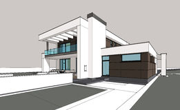3d rendering of modern cozy house royalty free illustration