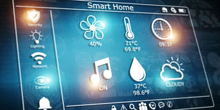 3D rendering modern digital smart house interface Stock Images