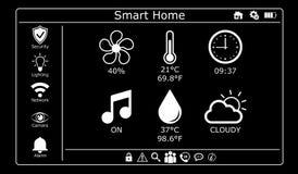 3D rendering modern digital smart house interface Royalty Free Stock Image