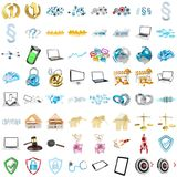 3D rendering modern icons Royalty Free Stock Image