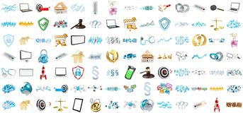 3D rendering modern icons Stock Photo