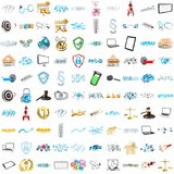 3D rendering modern icons Stock Photos