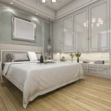3d rendering modern luxury classic bedroom with vintage built in Stock Images