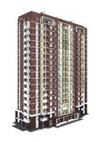 3d rendering of modern multi-storey residential building Stock Images