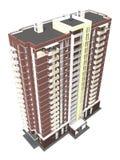 3d rendering of modern multi-storey residential building Royalty Free Stock Image
