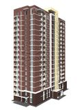 3d rendering of modern multi-storey residential building Stock Photos