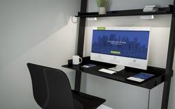 Shelve desktop modern website Royalty Free Stock Photos