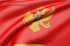 3d rendering of a Montenegro flag Royalty Free Stock Photography