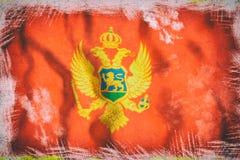 3d rendering Montenegro flaga Zdjęcia Royalty Free