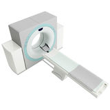 3d Rendering of a MRI Machine. 3d Rendering of a typical generic MRI machine Stock Images
