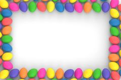 3d rendering multi-colored easter eggs royalty free stock images