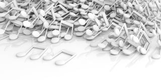 3d rendering music notes on white background Royalty Free Stock Photography