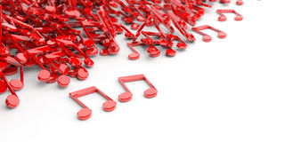 3d rendering music notes on white background Royalty Free Stock Photo