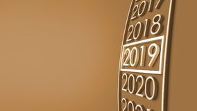 2019 3d rendering. New year 2019 3d rendering Stock Images