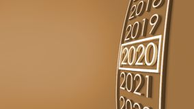 2020 3d rendering. New year 2020 3d rendering Royalty Free Stock Photo