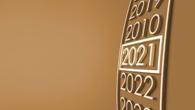 2021 3d rendering. New year 2021 3d rendering Royalty Free Stock Image