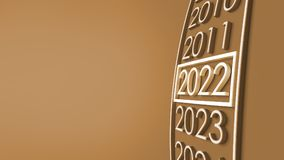 2022 3d rendering. New year 2022 3d rendering Stock Image
