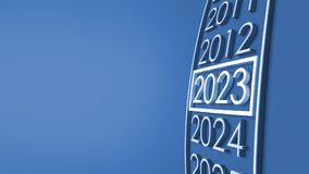 2023 3d rendering. royalty free stock images