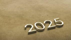 2025 3d rendering. vector illustration