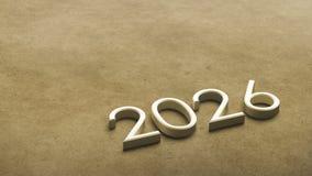 2026 3d rendering. vector illustration