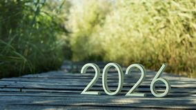 2026 3d rendering. royalty free stock photography