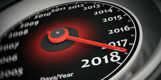 3d rendering new year 2018 car speedometer Royalty Free Stock Image