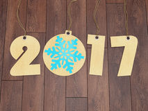 3D rendering 2017 New Year digits. On textural background Stock Images