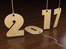 3D rendering 2017 New Year digits. On textural background Royalty Free Stock Photo