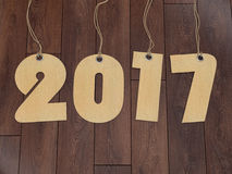 3D rendering 2017 New Year digits. On textural background Royalty Free Stock Image