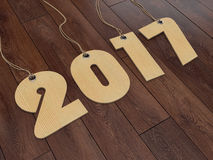 3D rendering 2017 New Year digits. On textural background Royalty Free Stock Photography