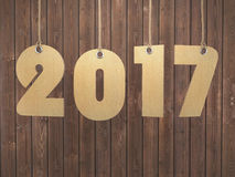 3D rendering 2017 New Year digits Royalty Free Stock Photography