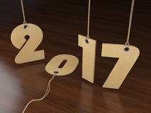 3D rendering 2017 New Year digits. On textural background Stock Image